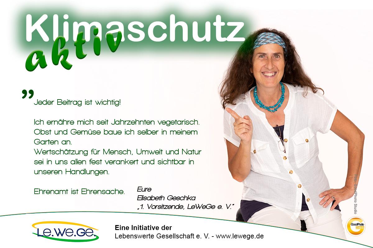 Klimaschutz aktiv Elisabeth Geschka