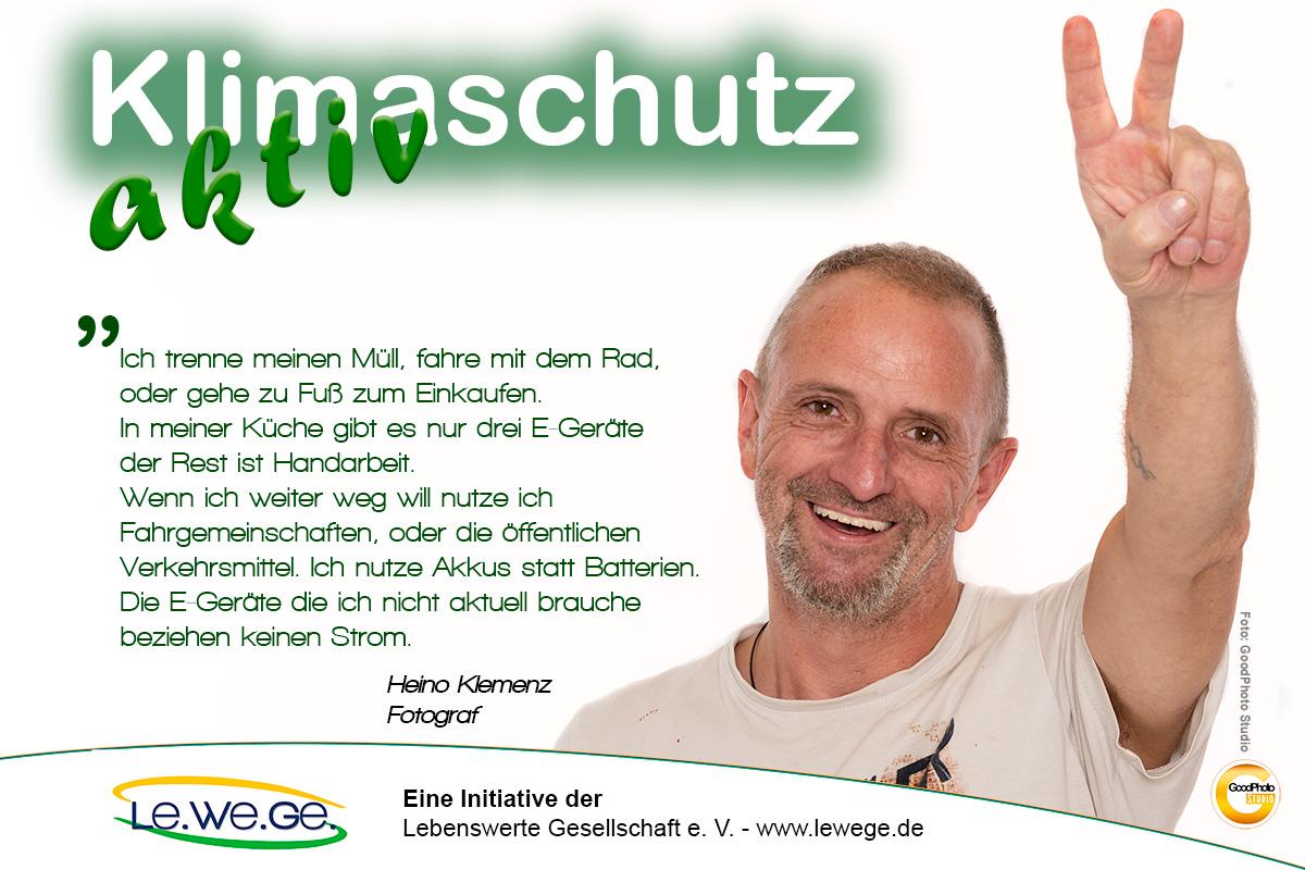Klimaschutz aktiv Heino Klemenz